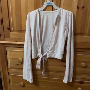 Brand new American eagle tie cropped shirt